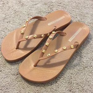 Brown Ipanema flip flops